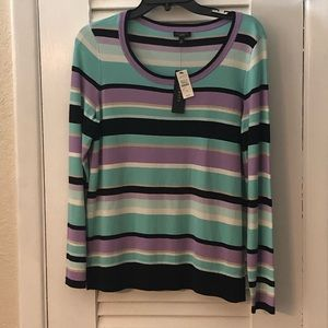 Talbots Petites long sleeve sweater spring colors